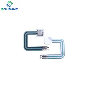 Interruptor de membrana de domo de metal único com 2 pinos