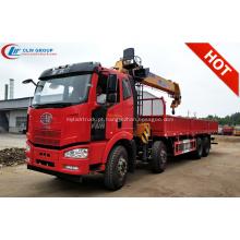 Guindaste montado caminhão novo do crescimento de 2019 FAWJ6 14Tons