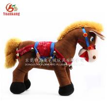 Recheado & Plush passeio em animais para shopping, andando de pelúcia animal cavalo branco brinquedo para crianças