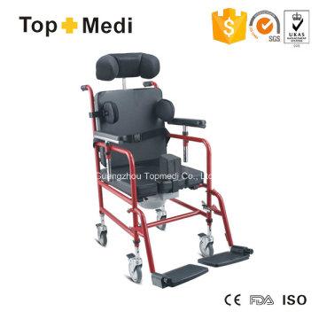 Silla de ruedas manual de aluminio para niños con parálisis cerebral Topmedi
