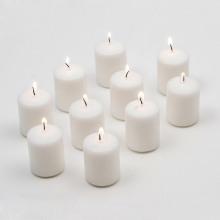 Mariage petites bougies non parfumées votives blanches de couleur