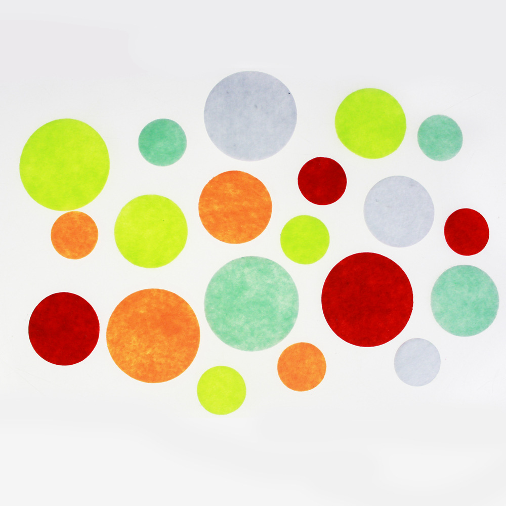 colorful felt circle sticker