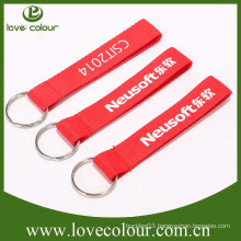 Factory cheap wholesale custom silk screen short lanyard for keychain