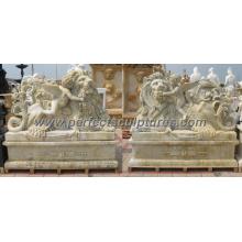 Антикварная резьба по камню скульптура для сада Каменная статуя (SY-X1684AB)
