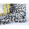 2015 New Design Leopard Printed Square Style Satin 100% Silk For Women