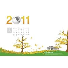 Nouveau calendrier mural mensuel pour le cadeau de nouvel an 2015