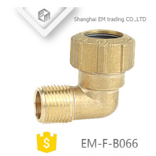 EM-F-B066 Brass Elboow Spain Different Diameter male thread Plumbing pipe