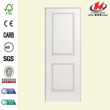 30 in. x 80 in. Smooth 2-Panel Square Hollow Core Primed Composite Single Prehung Interior Door