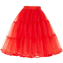 Belle Poque Women Red vintage Crinoline Petticoat Underskirt for vintage retro dresses BP000177-3
