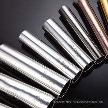 factory custom brushed sus304 ss201 stainless steel round  pipe foshan
