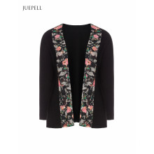 Floral Trim Casual Women Jacket