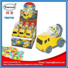 Juguete promocional del camión del mezclador concreto con el caramelo