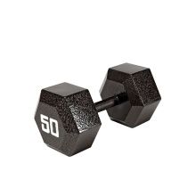 50LB ferro fundido Hex Dumbbell