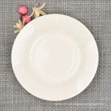 Placa de jantar moderna fina de China do osso, louça de 6 polegadas