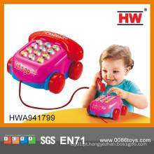 Novo item de plástico máquina de telefone inteligente aprender brinquedos do bebê por atacado