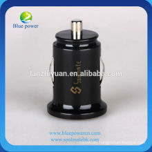 Universal dual-usb Mini Car charger,5V1A/2.1A mobile phone car charge,for iphone/ipad/samsung