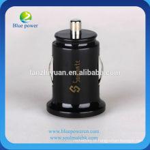 Universal dual-usb mini carregador de carro, 5V1A / 2.1A carga de carro do telefone móvel, para iphone / ipad / samsung