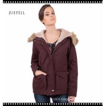 China Factory Cotton Oversiz Parka Winter Coat for Women