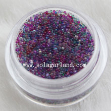 Graine de verre transparent paillettes Mini perles en Stickers pour Nail Art