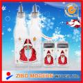 Oil Vinegar Bottles Christmas Theme