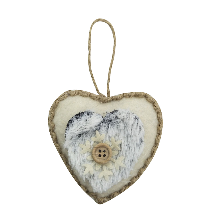 Winter Woodland Heart Hanging Ornaments