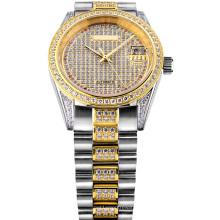 Reloj de pulsera Full Stone Lover con movimiento automático y piedras llenas