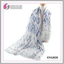 2016 European and American Simplicity Rippling Rhombic Voile Scarf