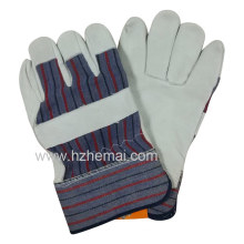 Top Grain Leather Gloves Rigger Cowhide Gloves Safety Work Glove
