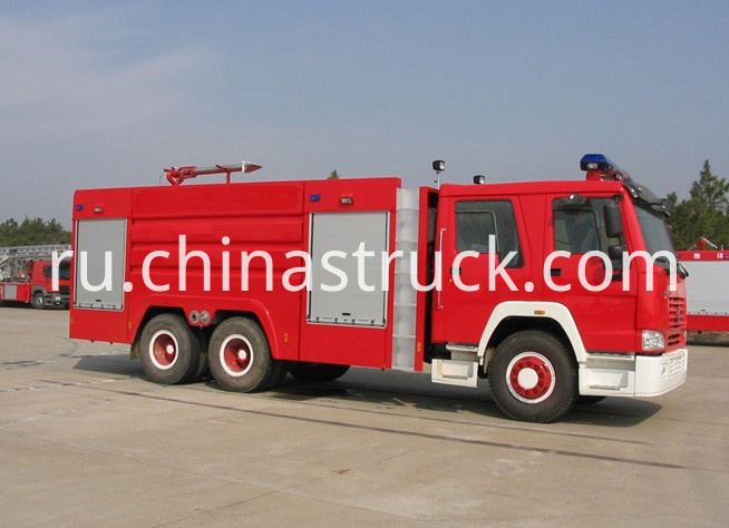 12T HOWO water and foam fire truck
