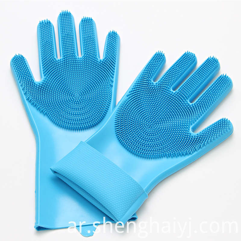 Amazon hot sales magic Silicone dishwashing Kitchen Gloves