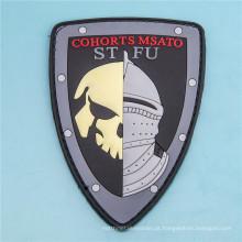 Emblema de borracha gravado 3D militar do PVC do remendo do estilo