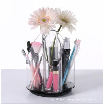 Acrylic Rotating Makeup Brush Holder Organizer
