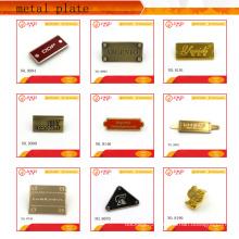 Black hardware/metal engraved labels,metal label plate for handbag/clothing