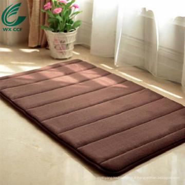 tapis de tapis en caoutchouc de microfibre en gros pour des portes