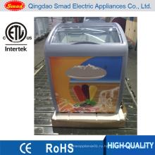 ЭТЛ стеклянная дверь Дисплей холодильник с мороженым 110В