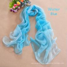 Bufandas / bufanda musulmanes del hijab de la gasa del invierno del nuevo del color del resplandor del color del resplandor de la gasa de seda larga de seda de la gasa del invierno del pashmina