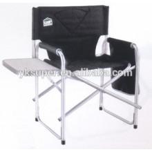 Cadeira de directorio dobrável de alumínio com placa de copo e cadeira lateral / cadeira de lona