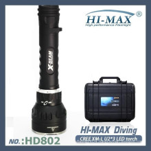 Professional 3000lumen larger and brighter led/hid diving torch