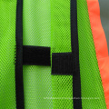 Green polyster mesh reflective safety vest with warning reflective tape