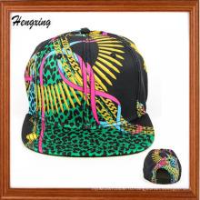 Пользовательские Цветочные Плоским Пик Snapback Шапки 6 Шлем Snapback Панели Шляпы