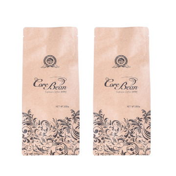 Kertas Kraf Kompostable Flat Bottom Biodegradable Coffee bag