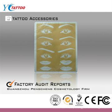 Pele sintética de prática de tatuagem de lábios e lábios