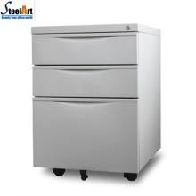 Luoyang vente directe bureau meubles en acier 3 tiroir mobile cabinet