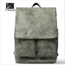 Fashion men cheap promotional leisure genuine leather backpack 2016