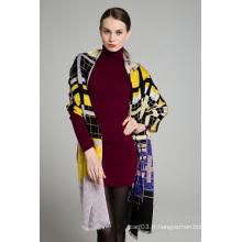 Élégant manteau à la mode européenne Pashmina Shawl