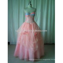 Materiais de alta qualidade para vestido de baile de casamento sem cor