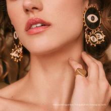 Good Quality Exaggerated Devil′s Eye Earrings Punk Earrings Girl