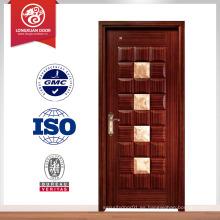 2014 nuevas puertas de cristal de madera interiores de grano de madera de diseño de china