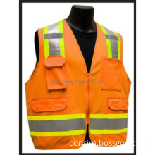 reflective safety vest with reflective polyester tape