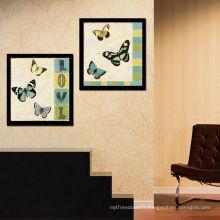 Peinture vintage en toile de papillon